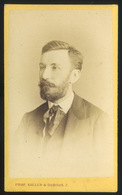 PEST 1870-75. Koller és Borsos : Ismeretlen Férfi, Visit Fotó - Foto's