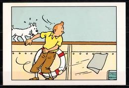 CP Tintin : Editions Hergé/Moulinsart N° 030 ( Recto-Verso ) - Bandes Dessinées