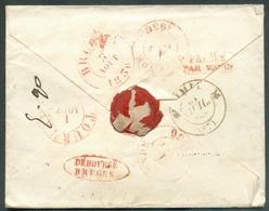 Enveloppe Avec Contenu De PARIS Le 30 Juillet 1836 + Griffe L.F.R.2 Vers  Lille (arr. 31/07, Biffé), Renvoi Vers Tournay - 1830-1849 (Unabhängiges Belgien)
