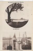 50, Manche, SAINT VAAST LA HOUGUE, Le Port Et Barques De Peche, Scan Recto Verso - Saint Vaast La Hougue