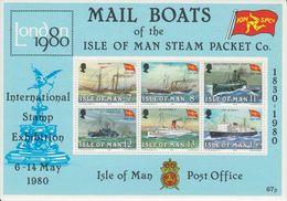 Isle Of Man 1980 Mailboats / London '80 M/s  ** Mnh (42920) - Man (Eiland)