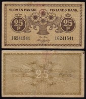 FINNLAND - FINLAND 25 PENNIA BANKNOTE 1918 PICK 33 F (4)  (23581 - Finnland