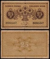 FINNLAND - FINLAND 25 PENNIA BANKNOTE 1918 PICK 33 F (4)  (23577 - Finnland