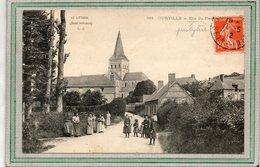 CPA - OURVILLE (76) - Aspect De L'entrée Du Bourg Par La Rue Du Presbytère En 1912 - Ourville En Caux