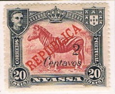 Companhia De Nyassa, 1921, # 86, MH - Nyassa