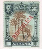 Companhia De Nyassa, 1921, # 91, MH - Nyassa