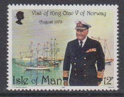 Isle Of Man 1980 Visit Of King Olav Of Norway 1v ** Mnh (42919L) - Man (Eiland)