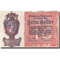 Billet, Liechtenstein, 10 Heller, Blason, 1920, SPL, Mehl:P-0001 - Liechtenstein