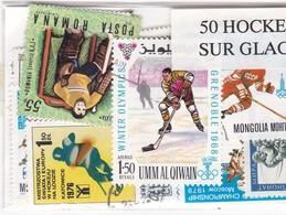 Thématiques, Sport - Hockey Sur Glace, 50 Timbres Différents - Tennis