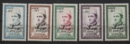 Maroc 1960 - Au Profit Des Victimes Des Huiles Frelatées (Mohamed V) - Y&T 397 à 401 MH* - Morocco (1956-...)