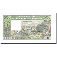 Billet, West African States, 500 Francs, 1985, KM:706Kh, NEUF - West-Afrikaanse Staten