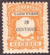 Cabo Verde / Cap Vert - 1921 Porteado # MNH # 3 Cts - Cap Vert