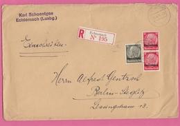 EINGESCHRIEBENER  BRIEF ECHTERNACH NACH BERLIN-STEGLITZ. - 1940-1944 German Occupation