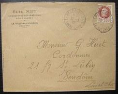La Ville Aux Clercs (Loir Et Cher) 1943 Elie Met Chaussures Réparations Nouveautés - Poststempel (Briefe)
