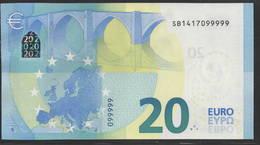 EURO 20  ITALIA SB S021  99999  UNC - EURO