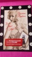 CHRISTINA AGUILERA  BE A GLAM STAR!! - Perfume Cards