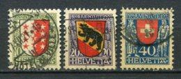 13105 SUISSE  N° 185/7 ° Armoiries De Canton Ou De La Suisse    Pro Juventute  1921   TB - Pro Juventute
