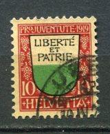 13100 SUISSE  N° 174 °  10 C. +5c Armoirie De Canton :  Vaud   Pro Juventute  1919   TB - Pro Juventute