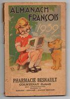 Almanach François 1939 Photographies à Bord Du Normandie - Les Moustiques - L'origine Du Papier Buvard - Calendriers