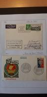 Frankreich 1960/61- Erstflug Beleg Paris-Douala-Brazzaville 1960 Marke Schloss Blois Mi.Nr. 1306, Beleg Marke Mi.Nr. 924 - 1960-.... Brieven & Documenten