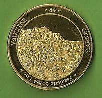 Médaille Touristique France Village GORDES PROVENCE Vaucluse Fonderie Saint Luc Olive Lavande Cigale Médailles Villages - Touristiques