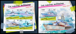 CENTRAL AFRICA 2019 - Military Ships, M/S + S/S Official Issue - Central African Republic