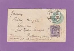 SEAPOST-BRIEF IM VISITENKARTENFORMAT VON CHINGLEPUT NACH HEILBRONN,1909. - 1902-11  Edward VII