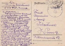 Feldpost Innsbruck Nach Wien - Kdo. Der 537. Inf.-Division - 1940 (41554) - Briefe U. Dokumente