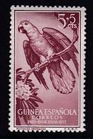 TIMBRE NEUF DE GUINEE ESPAGNOLE - PERROQUET ERITHACUS (EN FAVEUR DES INDIGENES) N° Y&T 381 - Perroquets & Tropicaux