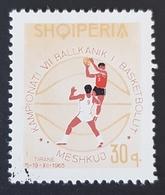 1965 Balkan Basketball Championships, Albania, Shqipëria, *,**, Or Used - Albanie