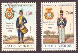 Cabo Verde / Cap Vert - 1965 Uniformes Militares Portugueses  / 1965 Portuguese Military Uniforms - Cap Vert