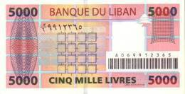LEBANON P. 85a 5000 L 2004 UNC - Libano