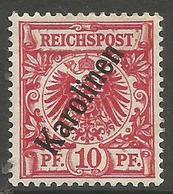 German Caroline Islands - 1900 German Eagle 10pf  MH *    Sc 3 - Colony: Caroline Islands