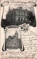 ! Alte Ansichtskarte Gruss Aus Rogasen ( Rogozno Bei Posen, Poznan ), Krankenhaus, Frauenverein, 1909, KOS Buchenhain - Pologne