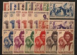 Mauritanie - 1938 - N°Yv. 73 à 94 - Série Complète - Neuf * / MH VF - Mauritania (1906-1944)
