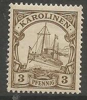 German Caroline Islands - 1900 Kaiser's Yacht 3pf  MH *    Sc 7 - Colony: Caroline Islands