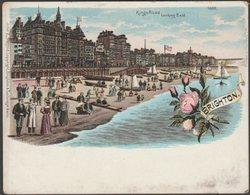 Court Card - Kings Road, Brighton, Sussex, C.1890s - John E Stafford Postcard - Brighton