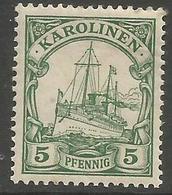 German Caroline Islands - 1900 Kaiser's Yacht 5pf  MH *    Sc 8 - Colony: Caroline Islands