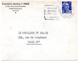 DORDOGNE - Dépt N° 24 = MONTIGNAC 1953 = FLAMME DAGUIN '  Cuirs Conserves Et Liqueurs ' - Poststempel (Briefe)
