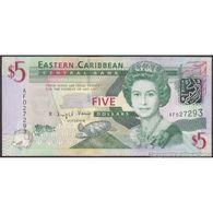 TWN - EAST CARIBBEAN STATES 47a - 5 Dollars 2008 Prefix AF UNC - Caraibi Orientale