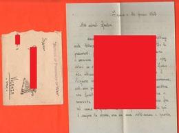 POW Prisoners Of War Prigionieri Di Guerra Prisonniers De Guerre From INDIA To Vicenza 1942 Busta + Lettera - Documents