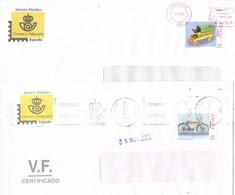32976. Lote Dos Cartas MADRID 1999 Y 2002. Servicio Filatelico, Stamps S.F. Franquicia - 1931-Hoy: 2ª República - ... Juan Carlos I