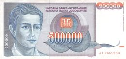 500000 Dinar Banknote Jugoslawien 1993 VF/F (III) - Jugoslawien