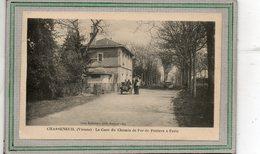 CPA - CHASSENEUIL (86) - Aspect De La Gare De La Ligne De Chemin De Fer De Poitiers à Paris En 1925 - France