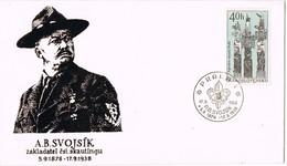 32977. Carta PRAHA (Checoslovaquia) 1968. SCOUTS A.B. Svojsik. Totem Native Indian Museum - Checoslovaquia