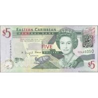 TWN - EAST CARIBBEAN STATES 47a - 5 Dollars 2008 Prefix CE UNC - Oostelijke Caraïben