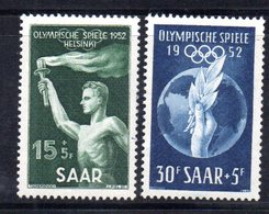 XP2906 - SARRE SAAR 1952 , Serie 301/302  *  Linguella. Olimpiadi Helsinki - Unused Stamps