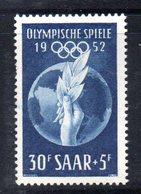 XP2905 - SARRE SAAR 1952 , 30+5 F. N.302  *** MNH. Olimpiadi Helsinki - 1947-56 Occupazione Alleata