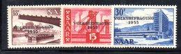 XP2835 - SARRE SAAR 1955 , Serie N.344/346  *** MNH. Referendum - 1947-56 Occupazione Alleata