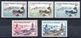ST PIERRE & MIQUELON - YT N° 353 à 357 - Neufs  ** -  MNH - Cote: 8,40 € - Neufs